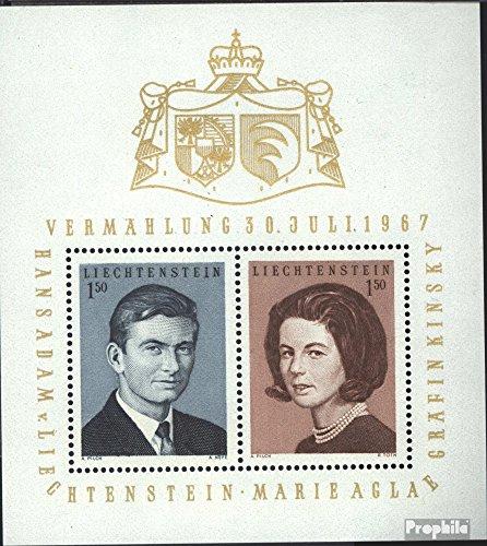 Liechtenstein Block7 (kompl.Ausg.) 1967 Königl. Hochzeit (Briefmarken für Sammler)