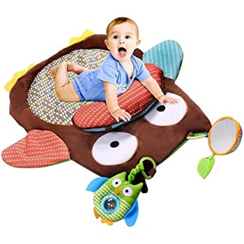 Bright Starts Tummy Time Prop & Play Activity Mat Baby Gear Teddy Bear Baby Gyms & Play Mats