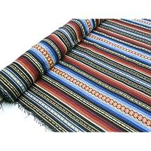 Metraje 0,50 mts tejido jacquard alpùjarreño color azul, con ancho ...
