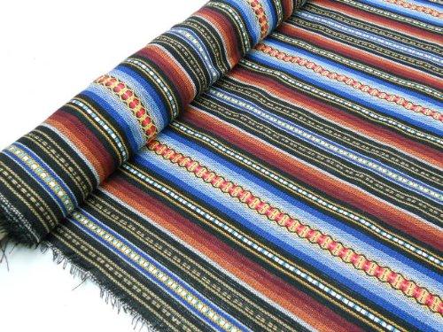 Metraje 0,50 mts tejido jacquard alpùjarreño color azul, con ancho 1,50 mts.