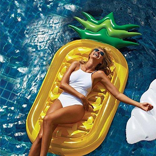 LUSTAR Aufblasbares Ananas-Pool-Floss Swimmingpool-Party-riesiges Ananas-Floss-Pool Schwimmen-Ring-Wasser-Hin- Und Herbewegungs-Sitz Für Erwachsenen Und Kinder -