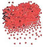 Unique Party - Confeti con Forma de Corazón - Rojo (90352)