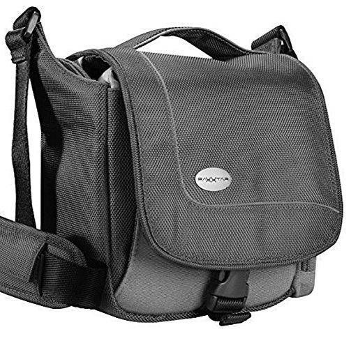 Baxxtar SportsBag schwarz Kameratasche für Bridge / Camcorder und Micro SLR / SLR Kameras z.B. Panasonic Lumix DC FZ82 DMC FZ2000 FZ1000 FZ300 FZ200 FZ72 - Sony CyberShot RX10 III IV HX350 HX400 usw. Sony Kamera-5000 Case