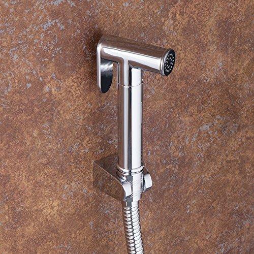 vanra PDA Kit Bidet Spritze Set Edelstahl Reinigungstuch Windel Spritze Wasserhahn mit T2-Absperrventil für Bidet Dusche Schlauch Halterung WC-Befestigung