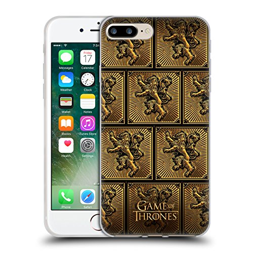 Offizielle HBO Game Of Thrones All Houses Golden Sigils Soft Gel Hülle für Apple iPhone 6 Plus / 6s Plus Lannister