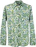 Guru-Shop Goa Hippie Hemd, Herrenhemd, Grün, Baumwolle, Size:M, Männerhemden Alternative Bekleidung