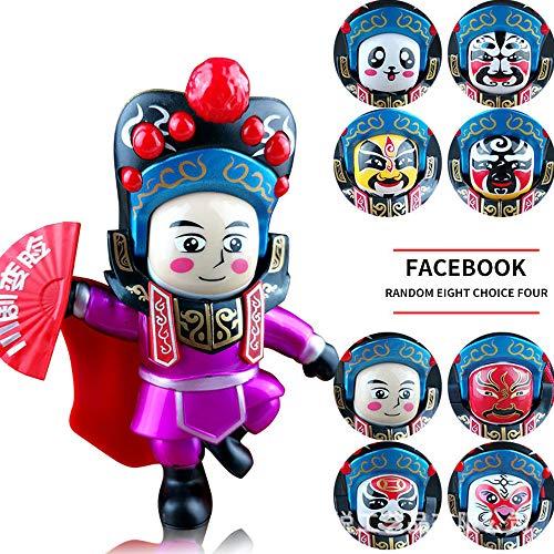 DIYARTS Sichuan Opera Gesichtswechsel Puppe Chinesischen Stil Kreative Tourist Souvenir Spielzeug Desktop Dekoration Für Kinder Geschenk Wohnkultur (Rose (Hausgemachte Handwerk Kostüm)