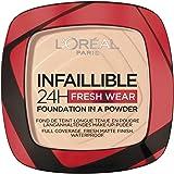 L'Oréal Paris Polvos Compactos Mate Infalible 24H, Larga Duración, Cobertura Media-Alta, Resistente al Agua, Tono: 20 Ivory,