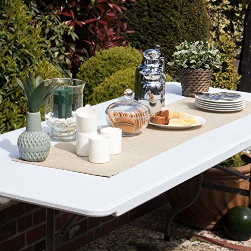 Vanage Gartenmöbel-Sets Bierbankgarnitur Fred Kunststoff, zusammenklappbar, weiß - 3