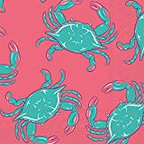 Ideal Home Range C013800 20 Count Crab Simply Southern Paper Cocktail Napkins, Multicolor