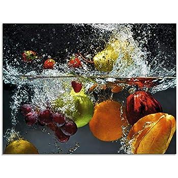 Leinwandbild Kunst-Druck 100x50 Bilder Essen /& Getränke Bunte Früchte