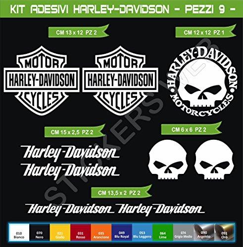 Adesivi Stickers Harley-Davidson Moto Motorbike cod.0636 (Bianco cod. 010)