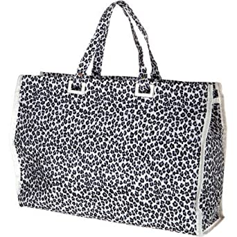 Large Zip Shopping Beach Bag Animal Print Shopper Tote Reusable ...