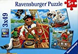 Ravensburger 09275 8 - Puzzle - L'Aventure Des Pirates - 3 x 49 Pièces