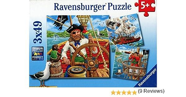 Ravensburger 09275 Piratenabenteuer 3x 49 Teile Puzzle