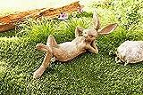Hasenfigur für Garten Deko Figur Hase aus Kunststein 40cm Dekofigur NEU