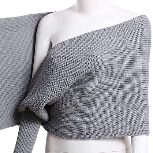 One-shoulder Knit Top (PerGrate 2019 Women's Fashion Shawl, Women Knitted Sweater Tops Scarf with Sleeve Wrap Winter Warm Shawl Scarves, Red, Black, Beige, Grey and Navy Blue)