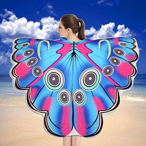 weicher Stoff Schmetterlingsflügel Schal Strand Badetücher Fee Damen Nymph Pixie Kostüm Zubehör (B) ()