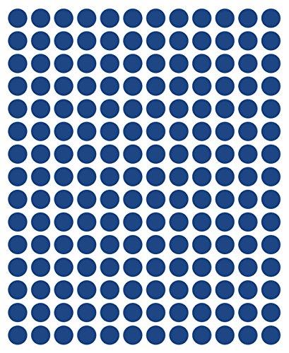 540adhesivos, 12mm, Azul, Funda de PVC, resistente a la intemperie, LabelOcean círculos puntos Pegatinas