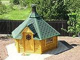 JUNIT SKF09201 9,2 m2 Saunakota ohne Vorraum mit großem Saunaraum, ohne Sauna-Ofen Fichte für ca. 8 Personen -