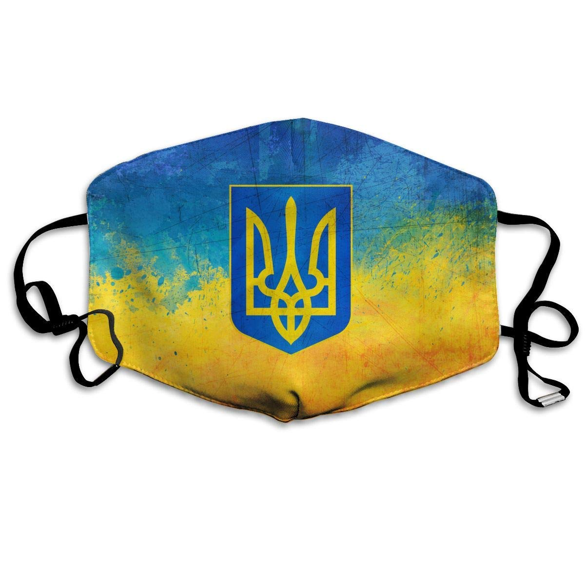Daawqee Máscara de Boca, Ukrainian Paint Flag Unisex Creative Mascarilla Washable Safety 100% Polyester Comfortable Breathable Health Half Face Masks