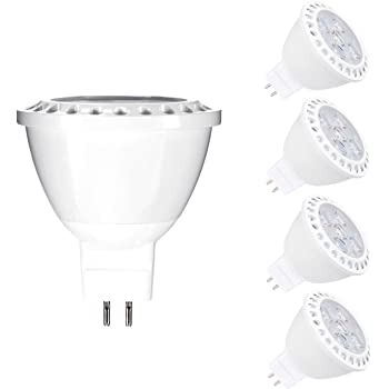 Bombillas LED MR16, Vlio 6 W GU5.3, bombillas halógenas de 50 W, equivalente a 12 V CA/CC, 3000 K, luz blanca cálida, iluminación LED de pista, 450 lm, ...