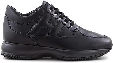 Hogan Sneakers Uomo Interactive Nera in Pelle - HXM00N00010 KLAB999 - Taglia