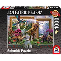 Schmidt Spiele Puzzle per Adulto: Dinosauri, 1000 pezzi