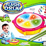 Reckonon Flash Multicolor Drum With Two Drum Sticks With 9 Different Drum Sounds