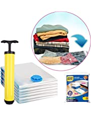 SmartSaver Reusable Ziplock Space Saver Vacuum Bags (Lifetime Guarantee), Works with Any Vacuum Cleaner