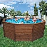 K2O-Pool von Holz 315x 105cm + Tonerpatrone Teichklärer