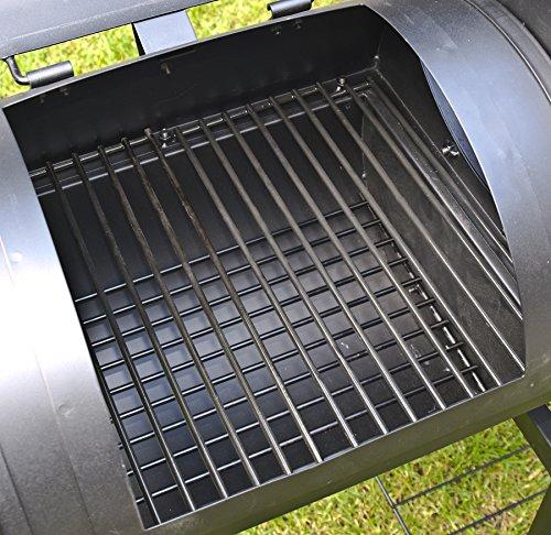 El Fuego Holzkohlegrill/Smoker Dakota, Schwarz, 122x133x66 cm - 12