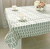 GY&H Hochwertige Baumwoll- und Leinen-Tischdecke Staub- / Antifouling-Mehrzweck-Lebensdekoration Tischdecke,green,140*180cm