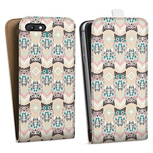 Apple iPhone X Silikon Hülle Case Schutzhülle Eulen Pastell Muster Downflip Tasche weiß