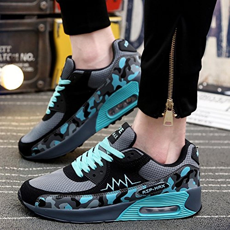 XUEQIN Herrenschuhe Männer innerhalb der Zunahme Luft Kissen Schuhe Sport Schuhe Freizeit Platten Schuhe  Farbe