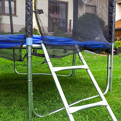 Gartentrampoline Trampoline Outdoor-Trampoline Fitness-Trampoline 305cm , inkl. Sicherheitsnetz, Schuhtasche, Bodenanker, Leiter und Abdeckplane - 6