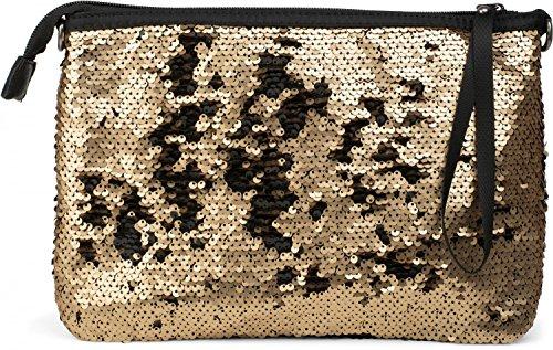 styleBREAKER, Poschette giorno donna grigio Silber-Grau / Schwarz taglia unica Oro / nero