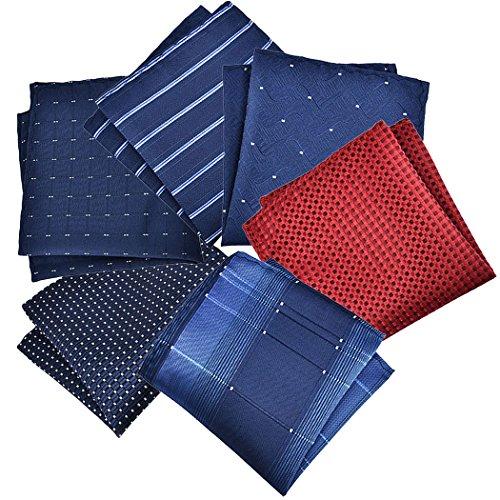 Fascigirl MäNner Taschen Taschentuch, 6 StüCke Anzug Tasche Taschentuch Kreative Mode Anzug Platz Hanky(ZufäLlige Farbe)