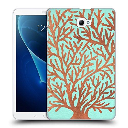 Offizielle Cat Coquillette Kupfler Koralle Meer 2 Ruckseite Hülle für Samsung Galaxy Tab A 10.1 (2016)