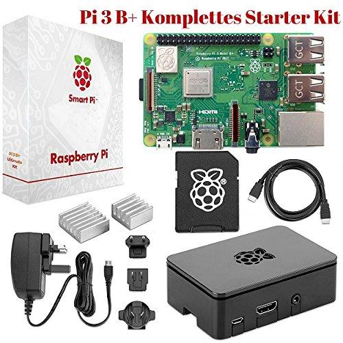 Raspberry-Pi-3-B-Komplettes-Starter-Set--Anfnger-Set-mit-Pi3-B-Motherboard-64-Bit-Quad-Core-14-GHz-32GB-bereits-installiertes-NOOBS-W-LAN-Pi3-Gehuse-Netzteil-HDMI-Kabel-2-Khlern