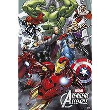 empireposter 737892Avengers Assemble–Dibujos animados Comic Póster Hulk–Spider Man Captain America Fantastic Four 61x 91,5cm, papel, multicolor, 91,5x 61x 0.14cm