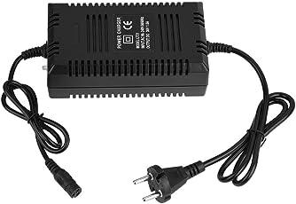 fosa 36V/1.8A batteria al piombo-acido Caricabatterie elettrico del caricatore del caricatore della carrozzina di ebike del caricatore di ebike caricatore del carrello spina a 3 poli (nero)(EU)