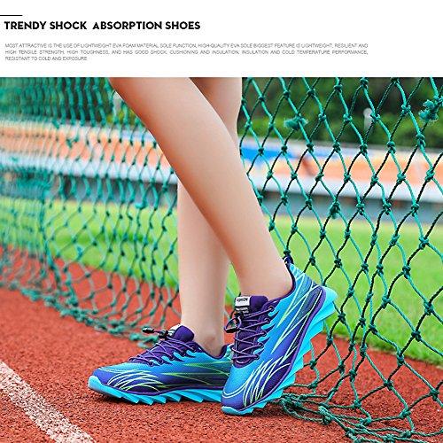 Kivors® Sportschuhe Turnschuhe Damen & Herren schockabsorbierende Straßenlaufschuhe Sport Fitness Laufschuhe neue Schuhe Liebhaber Modelle lila