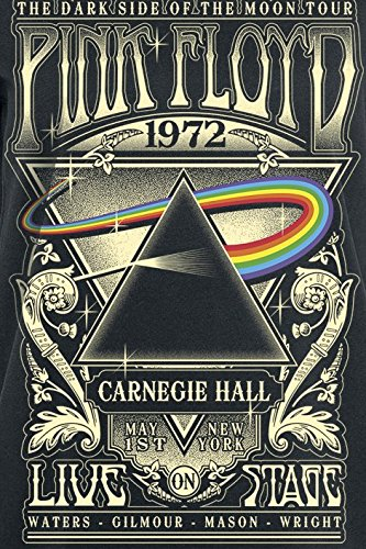 Pink Floyd Dark Side of The Moon - Live On Stage 1972 Girl-Shirt Schwarz Schwarz