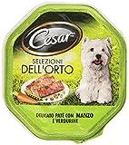 Cesar Selezioni dell'Orto, Delicato Paté con Manzo e Verdurine, per Cani Adulti, 150 g