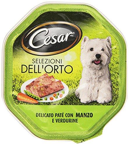 Cesar - selezioni dell'orto, delicato paté con manzo e verdurine, per cani adulti, 150 g