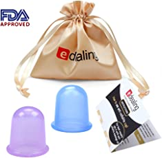Edealing 2 PCS Cupping Set cinese Therapy Cellulite sanitario sotto vuoto in silicone massaggio Coppe