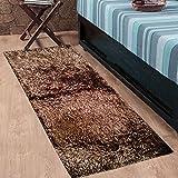#7: Cloth Fusion Premuim Shaggy Carpet for Living Room 2 Feet x 4.5 Feet (Camel Brown)