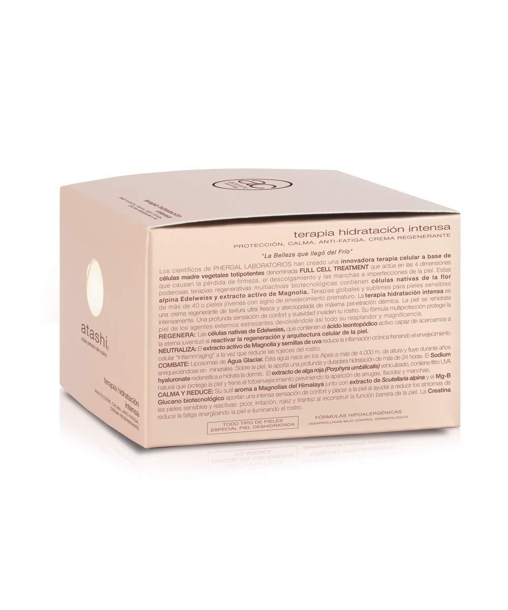 Atashi Firmeza y Luminosidad – Terapia Hidratación Intensa | Calma Rojeces | Previene Arrugas y Manchas | Sensación Confort | Liposomas de Agua Glaciar | Perfecta Para Pieles Sensibles – 50ml