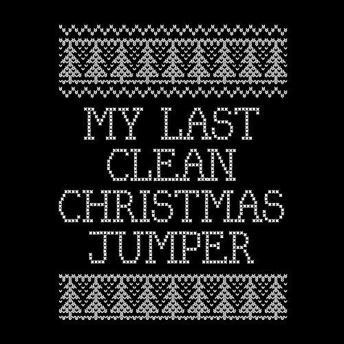 My Last Clean Christmas Knit Women's Hooded Sweatshirt Black